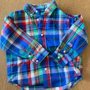 🏇🏼 2 for $20 Ralph Lauren Plaid Shirt Size 24m
